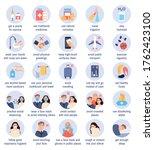 flu prevention tips. flat... | Shutterstock .eps vector #1762423100