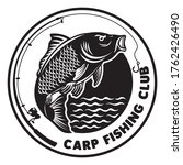 Carp Fishing logo, good for fishing tournament event and Fresh Fish Company Business