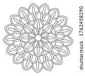 easy mandala  simple mandalas... | Shutterstock .eps vector #1762458290