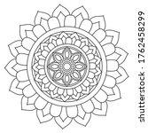 easy mandala  simple mandalas... | Shutterstock .eps vector #1762458299