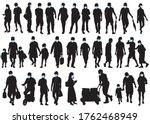 big collection of people...   Shutterstock .eps vector #1762468949