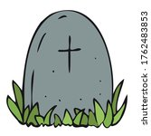 scary  creepy grave in a... | Shutterstock .eps vector #1762483853