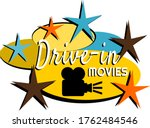 drive in movies mid century... | Shutterstock .eps vector #1762484546