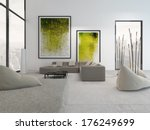 white living room interior with ... | Shutterstock . vector #176249699