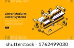 linear modules banner. concept... | Shutterstock .eps vector #1762499030