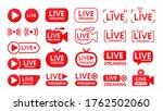 live streaming symbol set... | Shutterstock .eps vector #1762502060