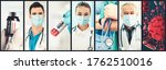 coronavirus covid 19 photo set... | Shutterstock . vector #1762510016