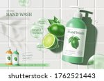 ad template for hand wash and... | Shutterstock .eps vector #1762521443