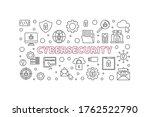 cybersecurity vector concept... | Shutterstock .eps vector #1762522790