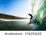 Surfer Wave Dropping Balance...