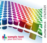 vector   3d halftone colorful... | Shutterstock .eps vector #17625325