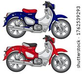 simple classic motorcycle... | Shutterstock .eps vector #1762539293
