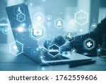 hand using laptop with creative ...   Shutterstock . vector #1762559606
