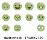 set of zombies emoticon icon...   Shutterstock .eps vector #1762562780