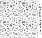 food seamless | Shutterstock .eps vector #176256410