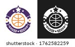 basketball logo  badge or label ... | Shutterstock .eps vector #1762582259