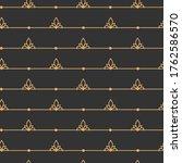 gold on black line seamless...   Shutterstock .eps vector #1762586570