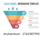 funnel diagram with 4 elements  ... | Shutterstock .eps vector #1762587590