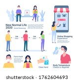 new normal life 2020 vector... | Shutterstock .eps vector #1762604693