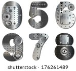 vector mechanical number. eps... | Shutterstock .eps vector #176261489