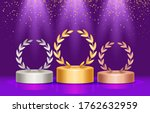 winners of the podium with a... | Shutterstock .eps vector #1762632959