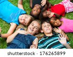 diverse multiracial group of... | Shutterstock . vector #176265899