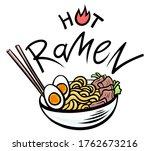 hot ramen asian noodle. cartoon ...   Shutterstock .eps vector #1762673216