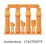 ancient egypt temple stone... | Shutterstock .eps vector #1762705979