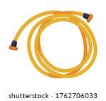 orange garden hose  agriculture ... | Shutterstock .eps vector #1762706033