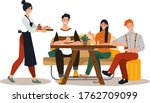 group friend together eat in... | Shutterstock .eps vector #1762709099