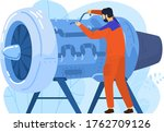engineer aircraft engine... | Shutterstock .eps vector #1762709126