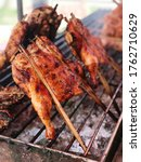 Small photo of close up portage photo of Thai Grilled Chicken (Gai Yang), food and cusine travel