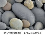 Round Gray Pebbles On The...