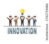 business innovation design...   Shutterstock . vector #1762725686