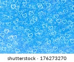 White Hearts Background On A...