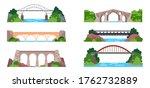 bridge with railway or arch... | Shutterstock .eps vector #1762732889