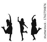 isolated  black silhouette girl ... | Shutterstock .eps vector #1762754876
