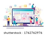 business team working together... | Shutterstock .eps vector #1762762976