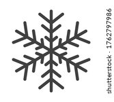 gray snowflake symbol isolated... | Shutterstock . vector #1762797986