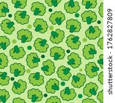 green seamless pattern with...   Shutterstock .eps vector #1762827809