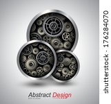 abstract background 3d with... | Shutterstock .eps vector #176284070