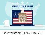 register online to vote  voting ...   Shutterstock .eps vector #1762845776