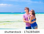 couple in bright clothes... | Shutterstock . vector #176285684