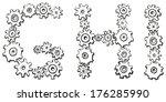 vector alphabet of cheerful... | Shutterstock .eps vector #176285990