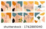 big set of  eigth abstract...   Shutterstock .eps vector #1762885040