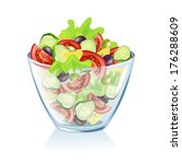 transparent dish with... | Shutterstock .eps vector #176288609
