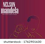 vector design of nelson mandela ... | Shutterstock .eps vector #1762901630