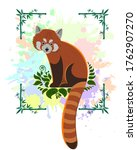 A Merry Red Panda Sits On The...