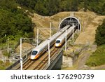 high speed commuter train... | Shutterstock . vector #176290739