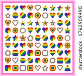 lgbt flag shapes. forms of... | Shutterstock .eps vector #1762909490